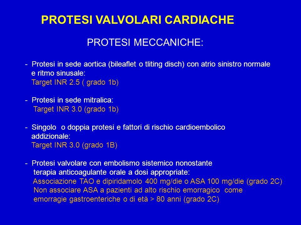PROTESI VALVOLARI CARDIACHE