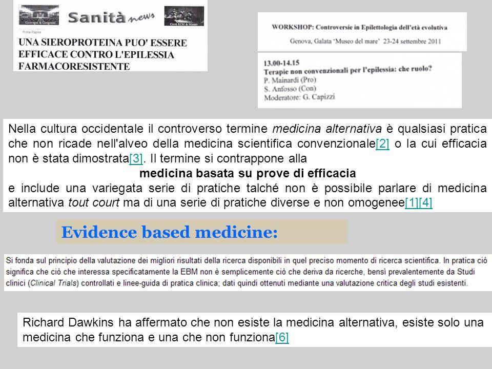 medicina basata su prove di efficacia