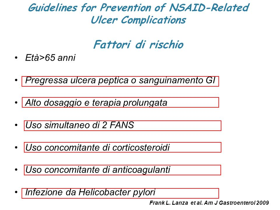 Guidelines for Prevention of NSAID-Related
