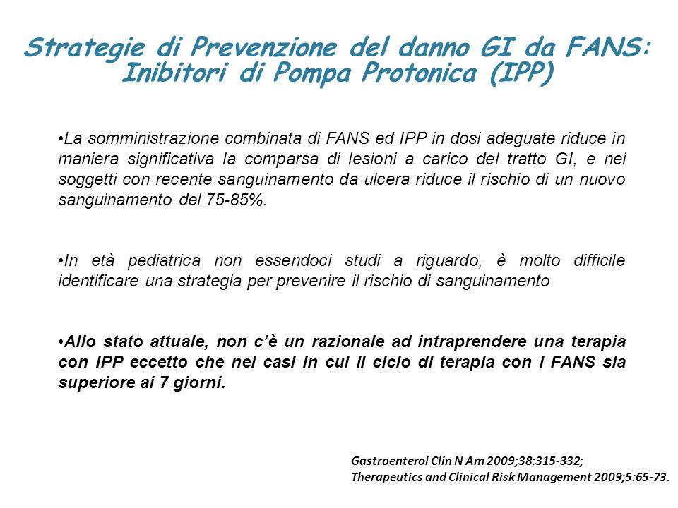 Strategie di Prevenzione del danno GI da FANS:
