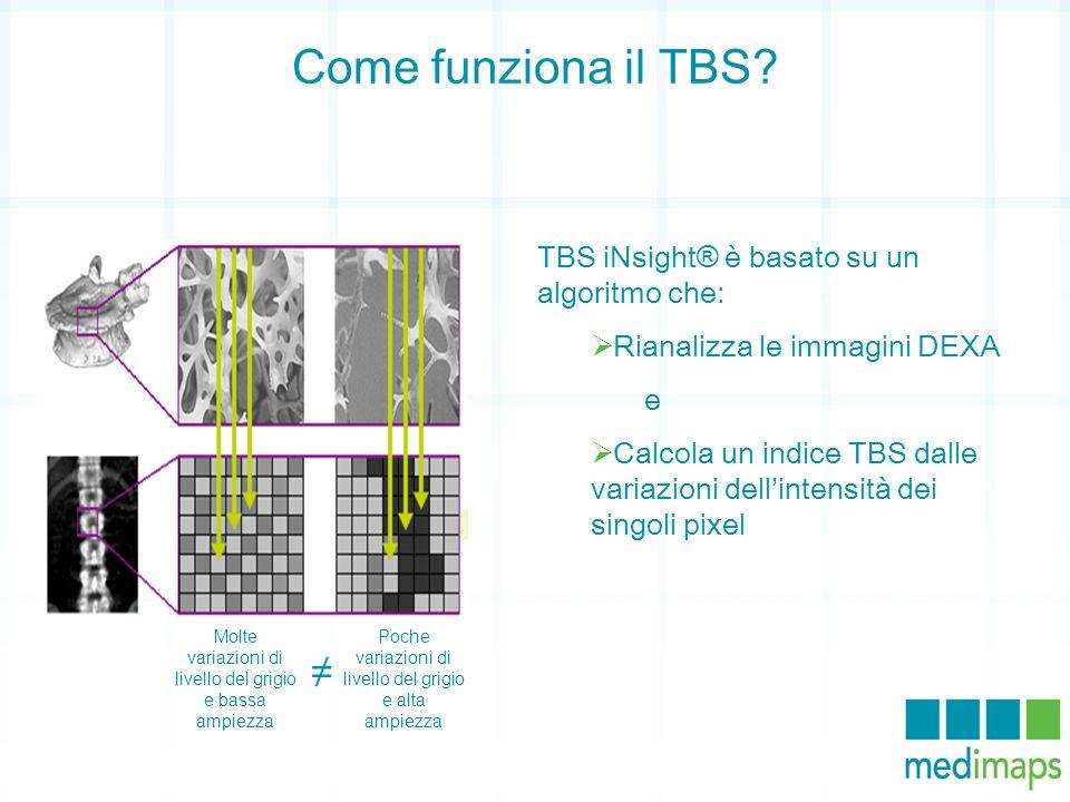 Come funziona il TBS ≠ TBS iNsight® è basato su un algoritmo che: