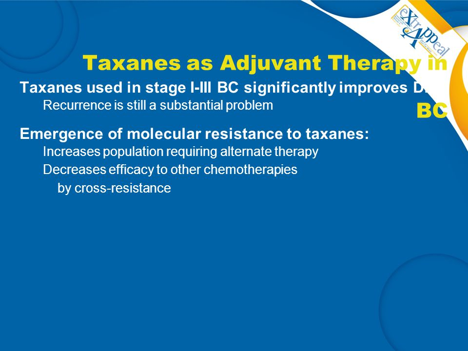 Taxanes as Adjuvant Therapy in BC