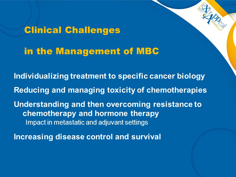 Clinical Challenges in the Management of MBC