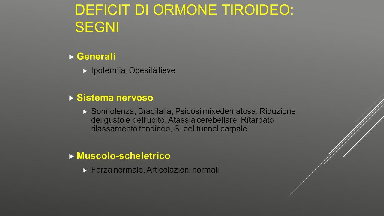 Deficit di ormone tiroideo: segni