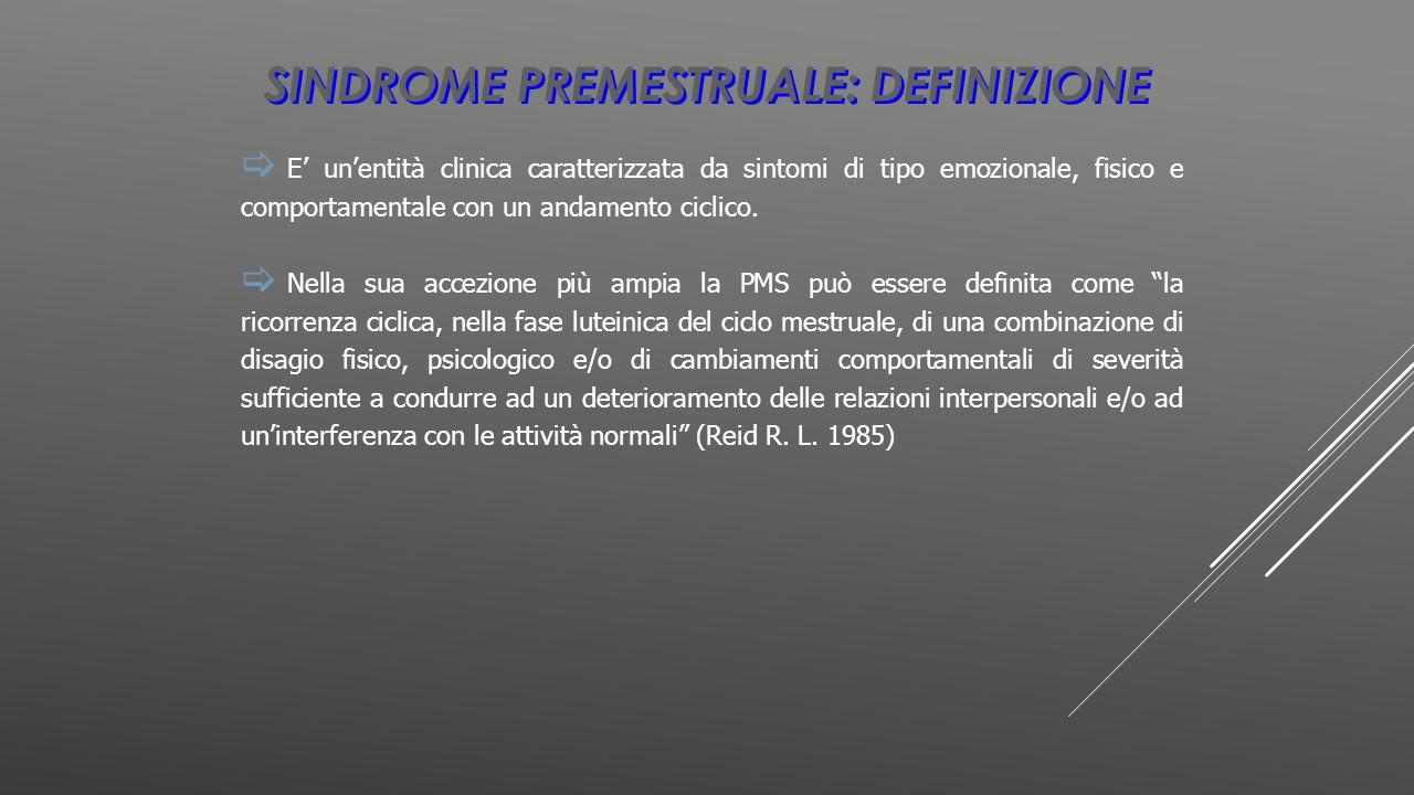 Sindrome premestruale: definizione