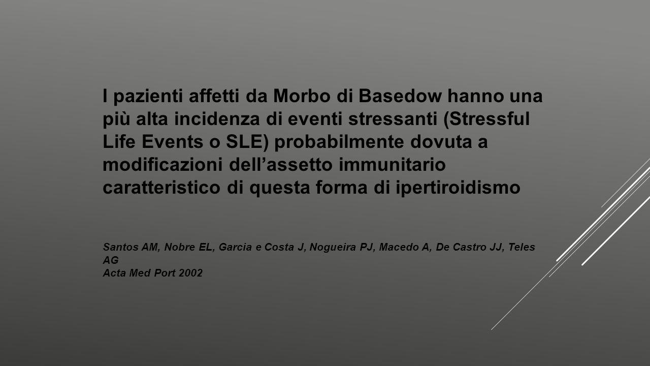I pazienti affetti da Morbo di Basedow hanno una più alta incidenza di eventi stressanti (Stressful Life Events o SLE) probabilmente dovuta a modificazioni dell'assetto immunitario caratteristico di questa forma di ipertiroidismo