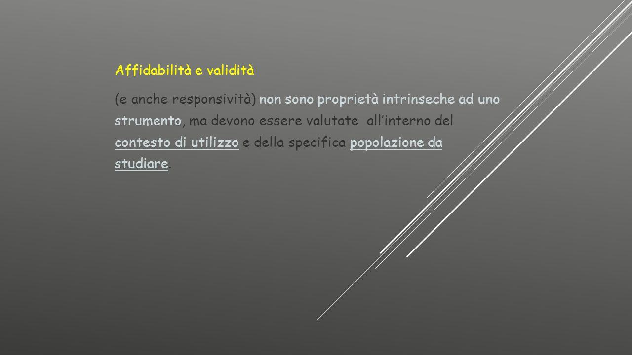 Affidabilità e validità