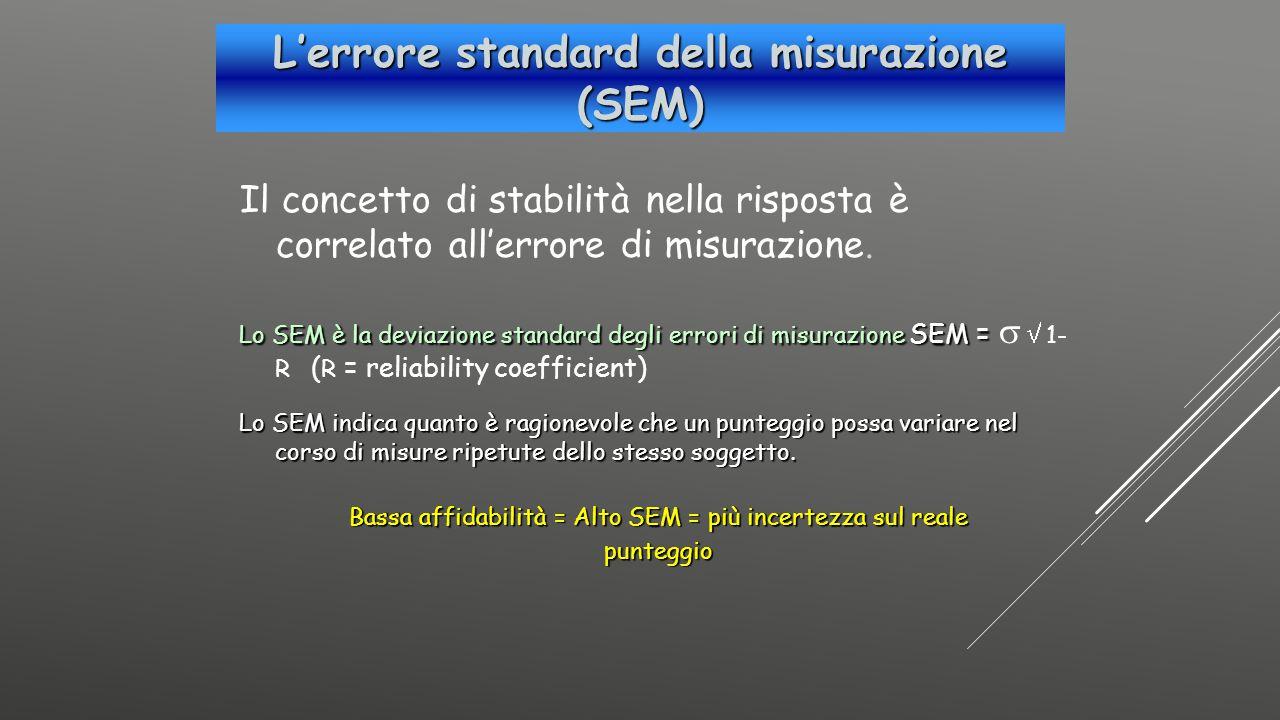 L'errore standard della misurazione (SEM)