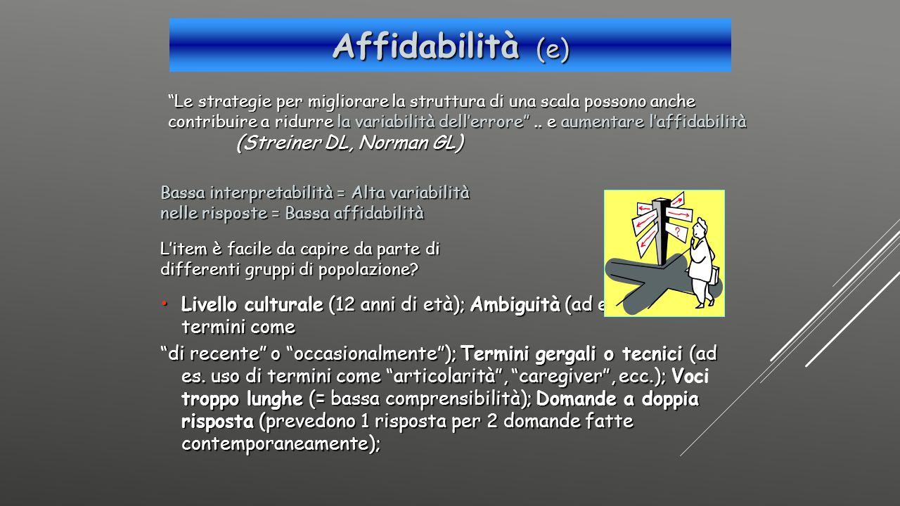 Affidabilità (e)