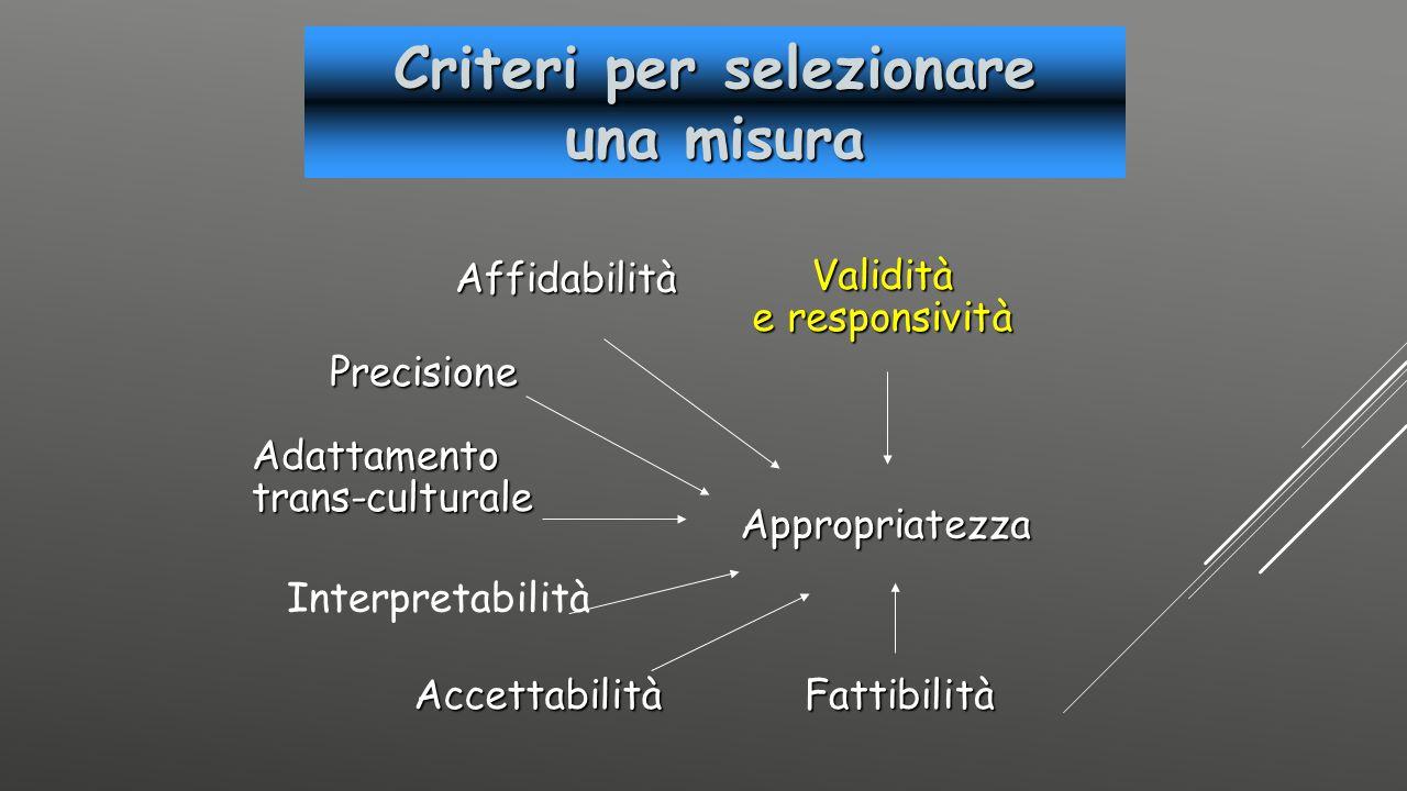 Criteri per selezionare