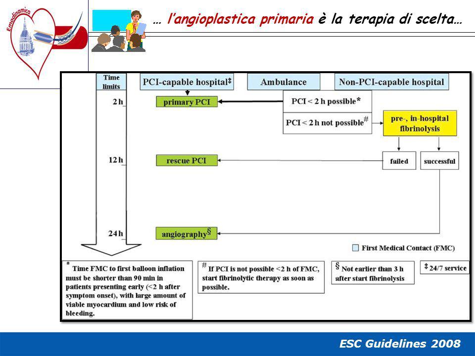 … l'angioplastica primaria è la terapia di scelta…