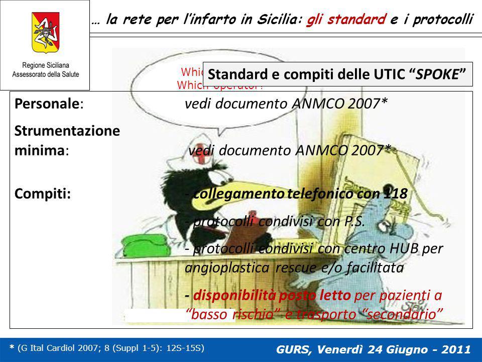Standard e compiti delle UTIC SPOKE