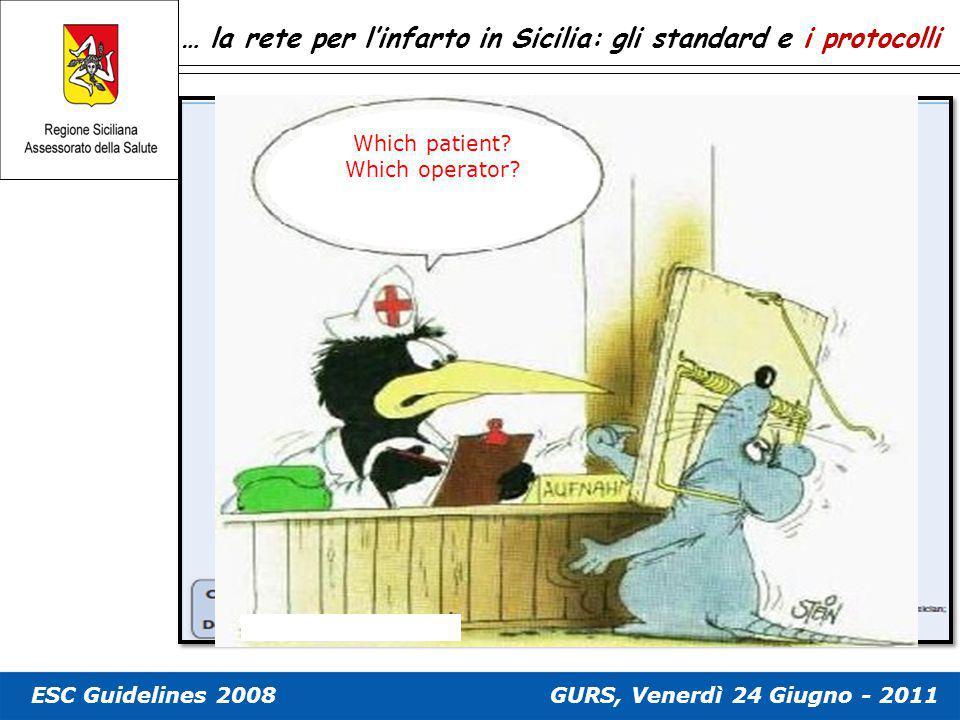 … la rete per l'infarto in Sicilia: gli standard e i protocolli