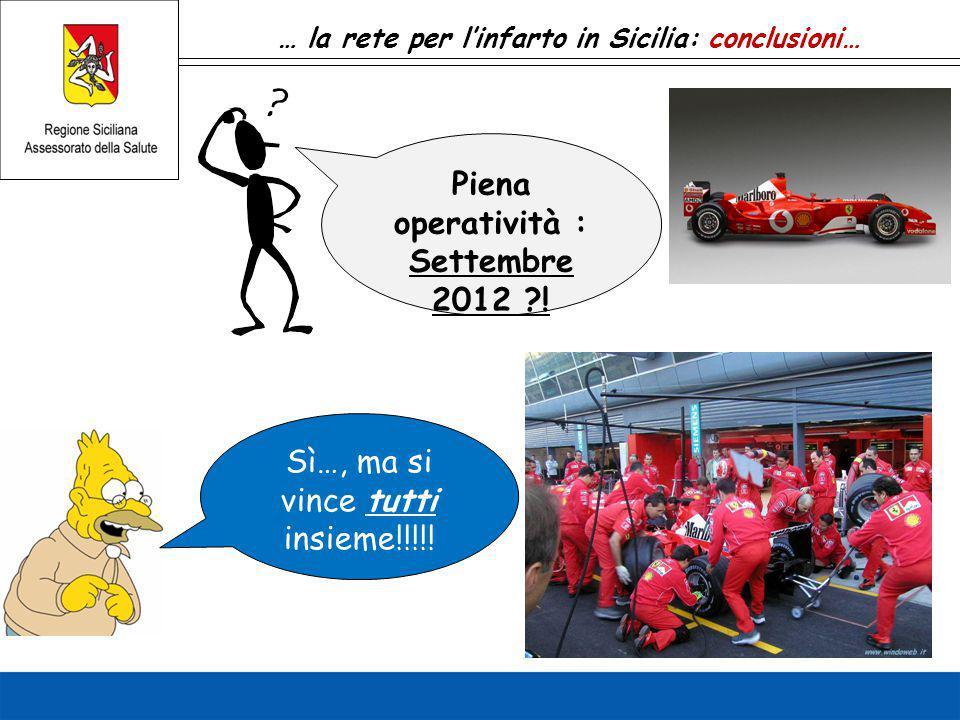 Piena operatività : Settembre 2012 !