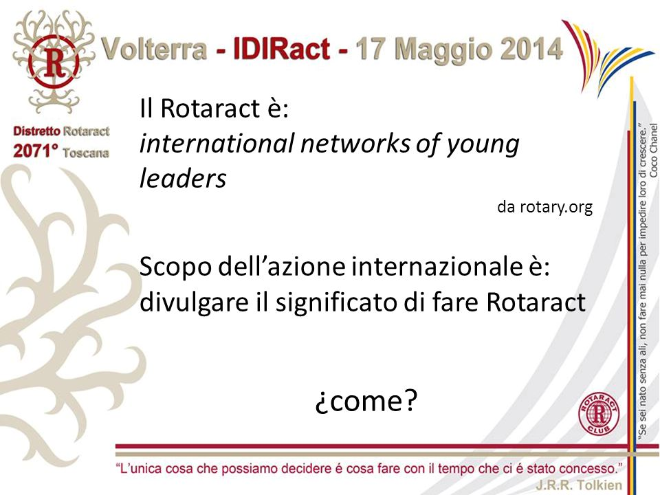 ¿come Il Rotaract è: international networks of young leaders