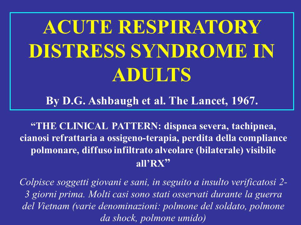 ACUTE RESPIRATORY DISTRESS SYNDROME IN ADULTS