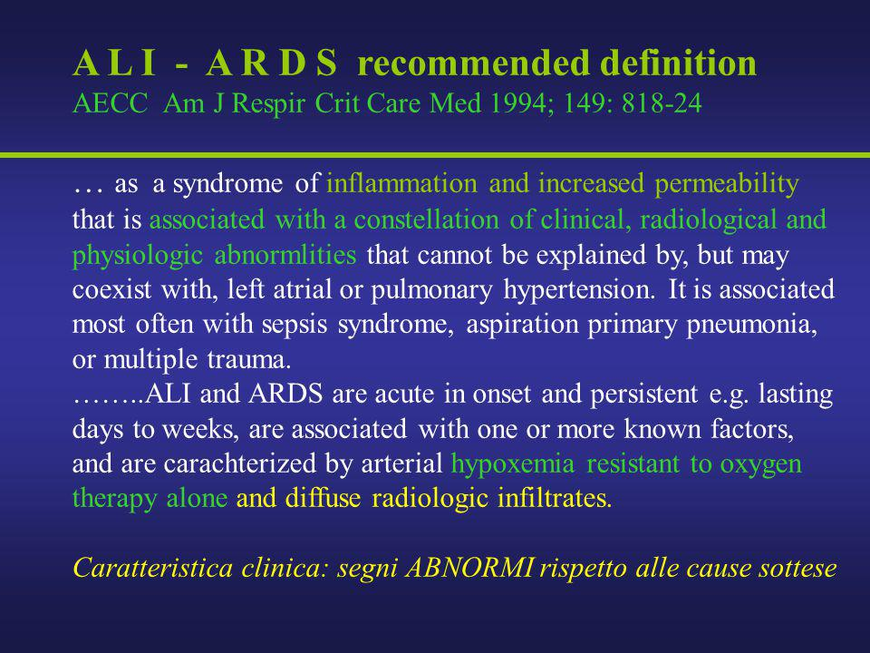 A L I - A R D S recommended definition