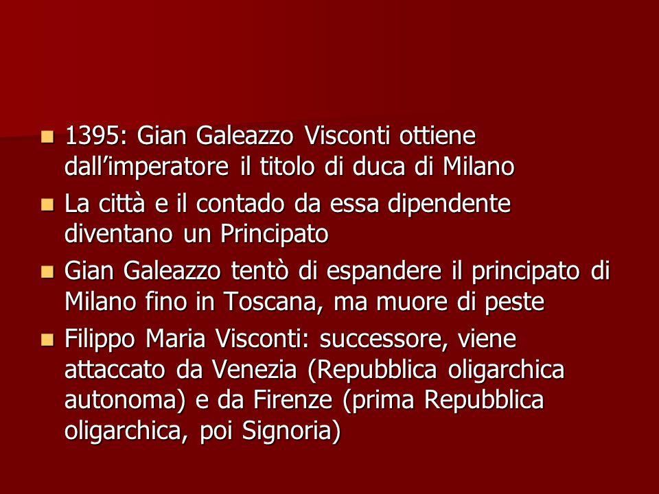 1395: Gian Galeazzo Visconti ottiene dall'imperatore il titolo di duca di Milano