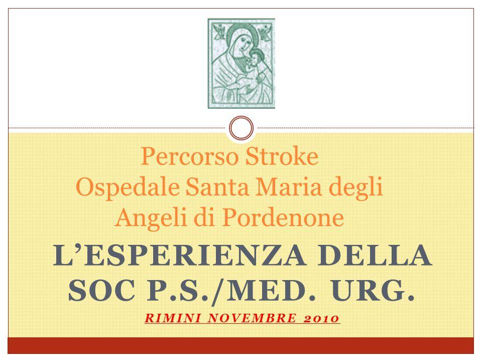 Percorso Stroke Ospedale Santa Maria degli Angeli di Pordenone