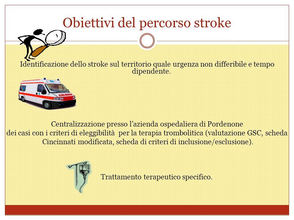 Obiettivi del percorso stroke