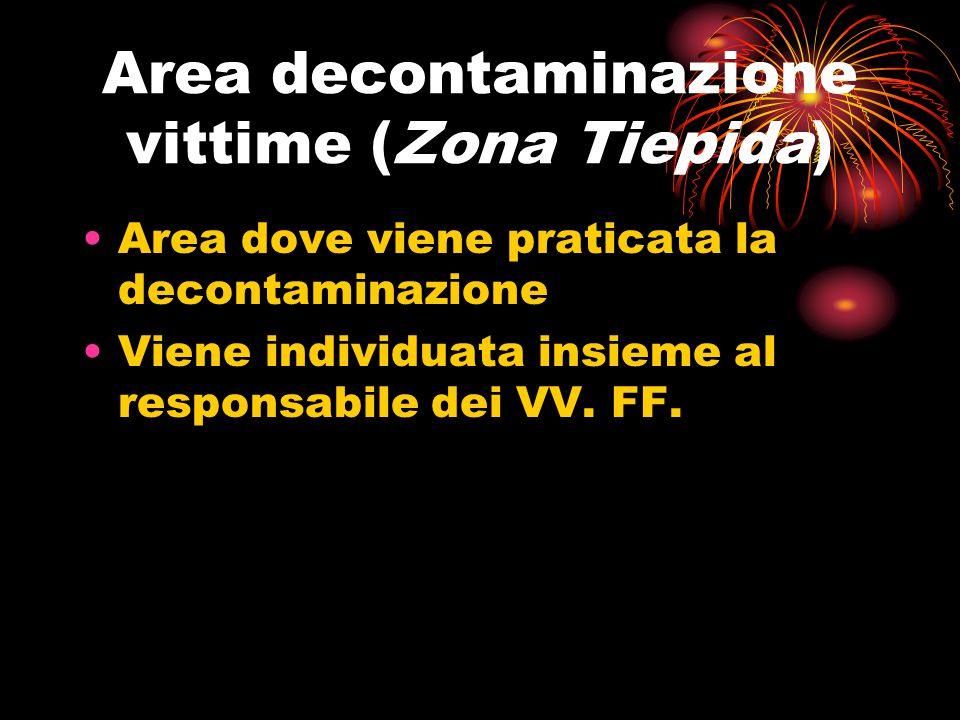 Area decontaminazione vittime (Zona Tiepida)