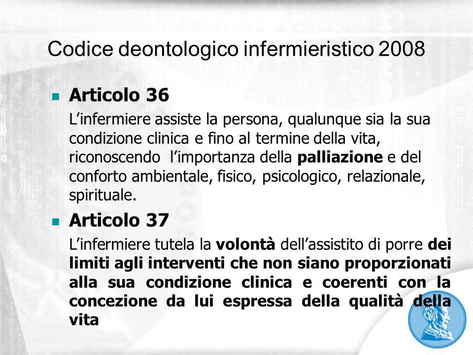 Codice deontologico infermieristico 2008