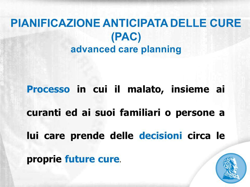 PIANIFICAZIONE ANTICIPATA DELLE CURE (PAC) advanced care planning