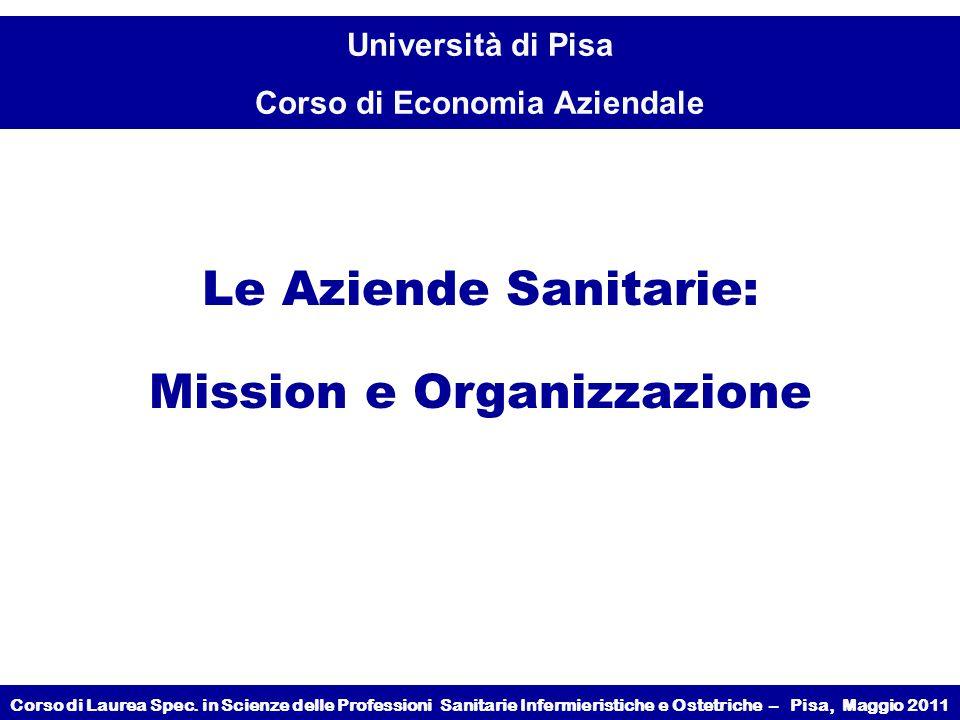 Mission e Organizzazione
