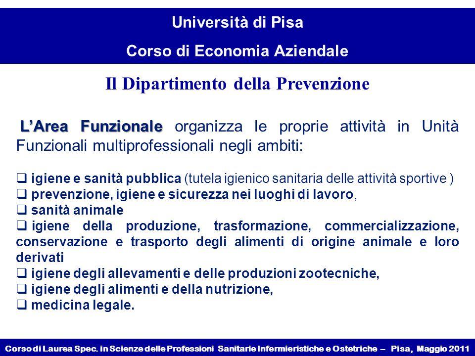Il Dipartimento della Prevenzione