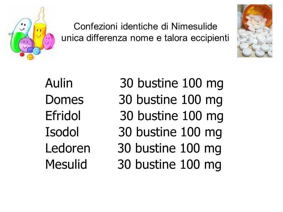 Aulin 30 bustine 100 mg Domes 30 bustine 100 mg