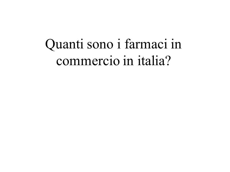 Quanti sono i farmaci in commercio in italia