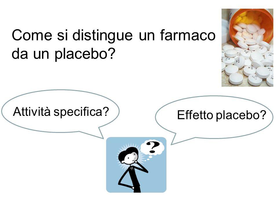 Come si distingue un farmaco da un placebo