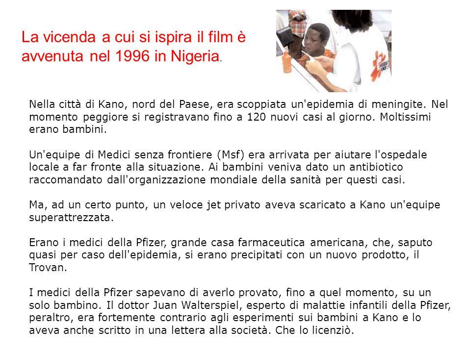 La vicenda a cui si ispira il film è avvenuta nel 1996 in Nigeria.