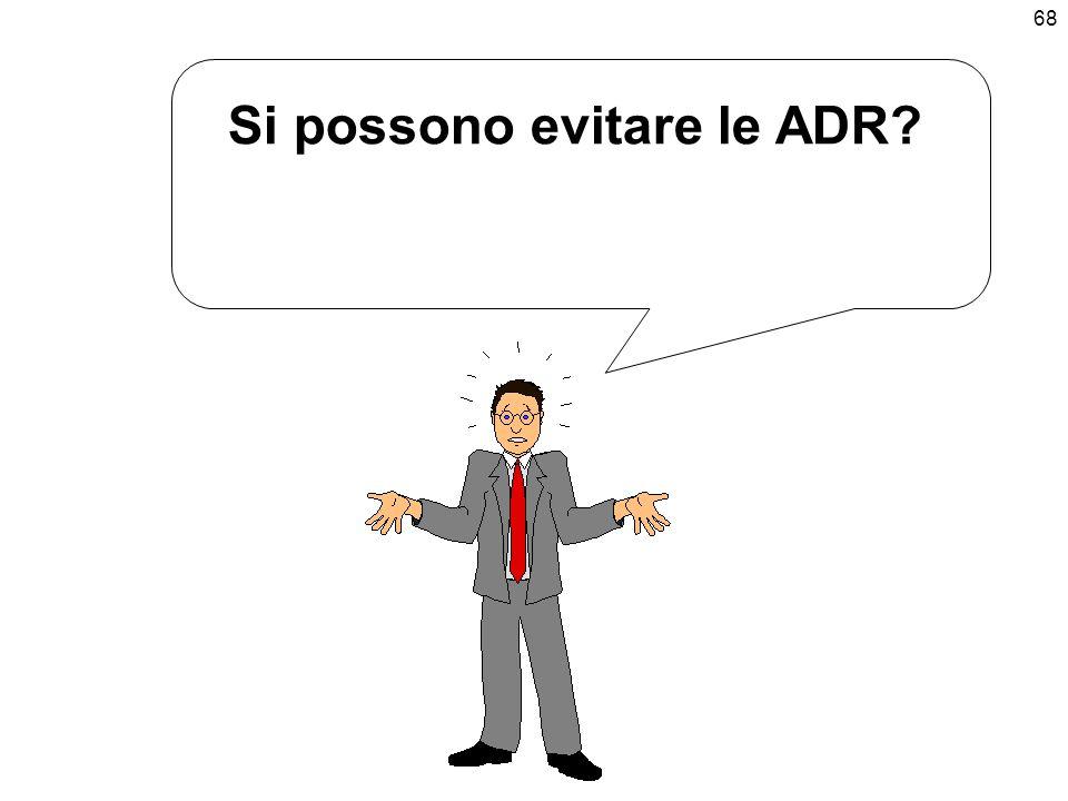 Si possono evitare le ADR