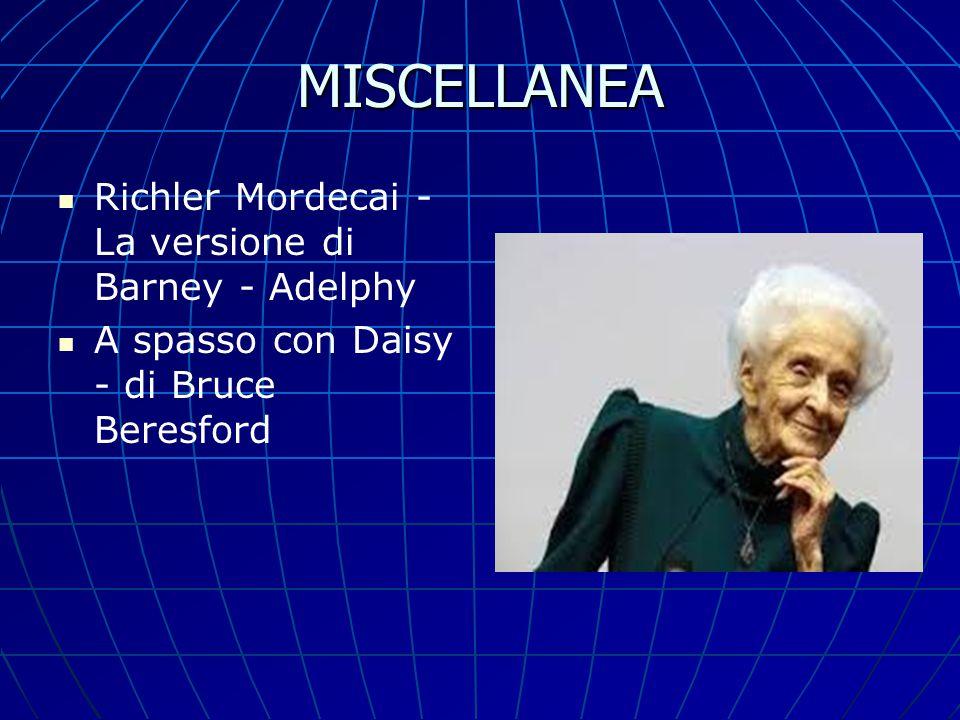 MISCELLANEA Richler Mordecai - La versione di Barney - Adelphy