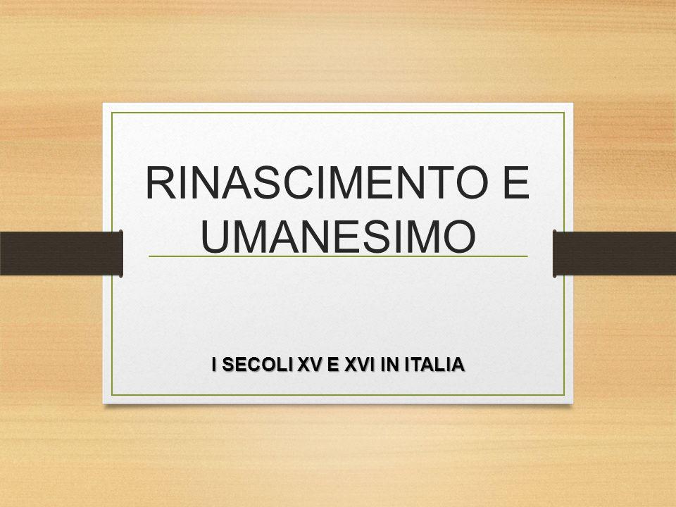 RINASCIMENTO E UMANESIMO