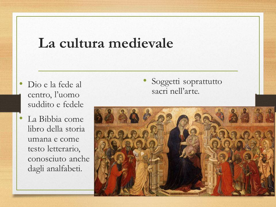 La cultura medievale Dio e la fede al centro, l'uomo suddito e fedele