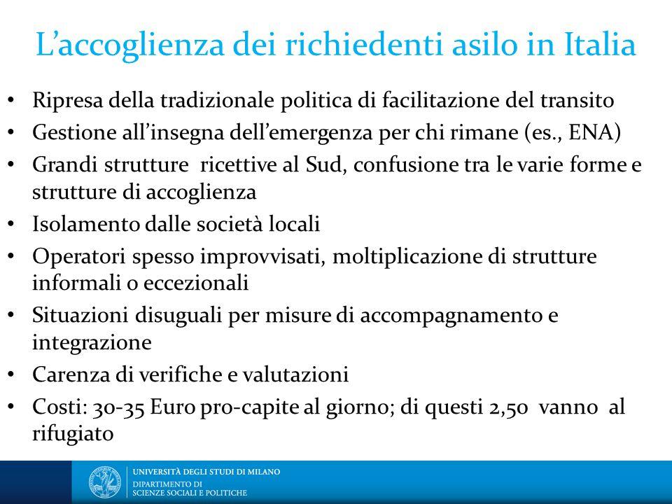 L'accoglienza dei richiedenti asilo in Italia