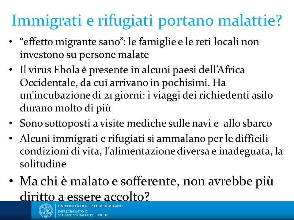 Immigrati e rifugiati portano malattie