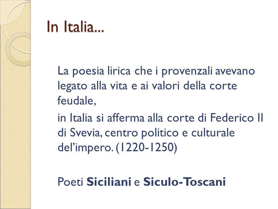 In Italia...