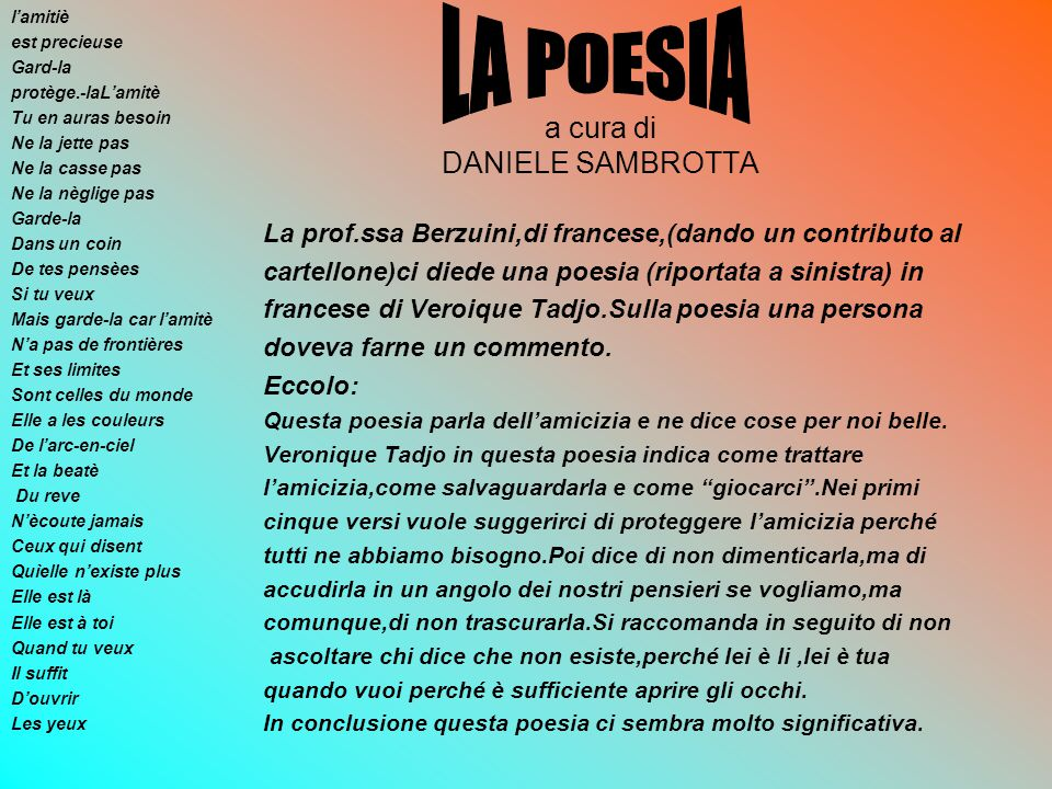 a cura di DANIELE SAMBROTTA