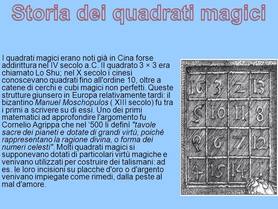 Storia dei quadrati magici