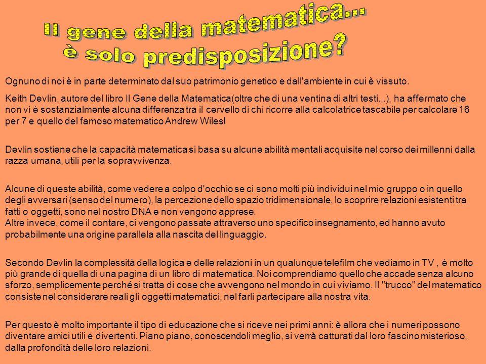Il gene della matematica... è solo predisposizione
