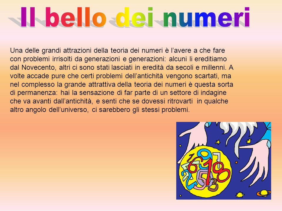 Il bello dei numeri