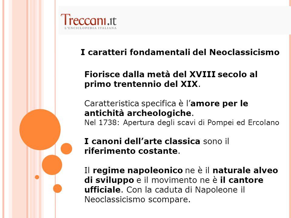 I caratteri fondamentali del Neoclassicismo