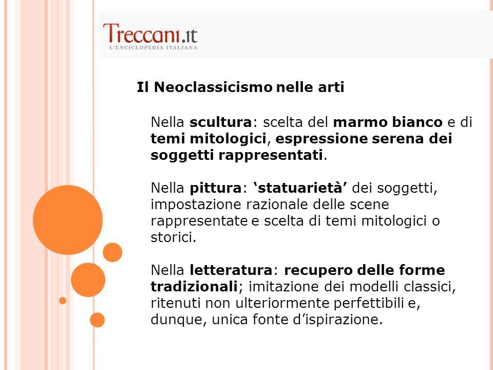 Il Neoclassicismo nelle arti