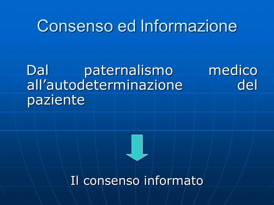 Consenso ed Informazione