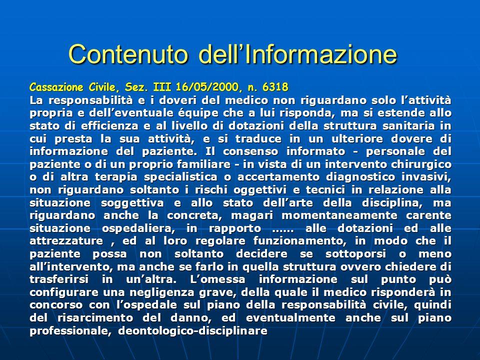 Contenuto dell'Informazione