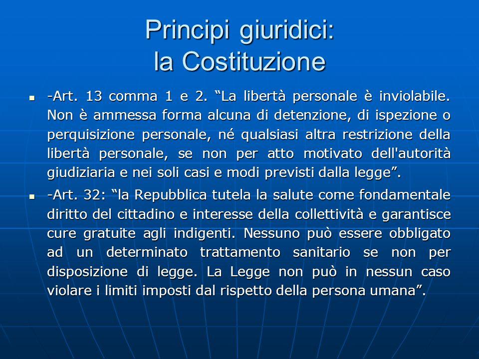 Principi giuridici: la Costituzione