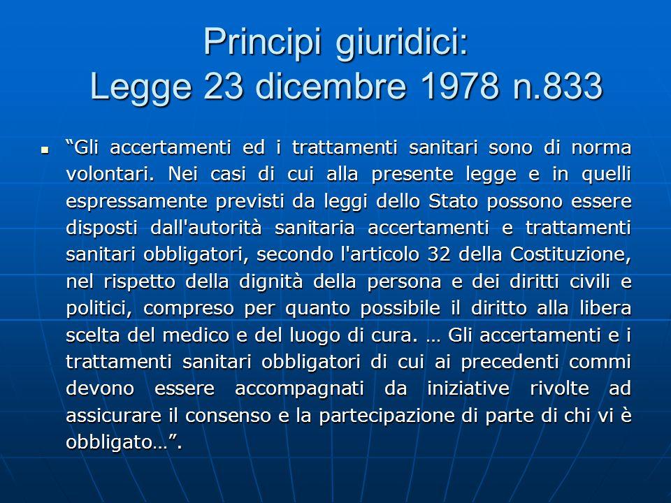 Principi giuridici: Legge 23 dicembre 1978 n.833